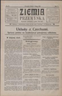 Ziemia Przemyska. 1919, R. 5, nr 27-35, 37-39, 41, 43, 48 (luty)