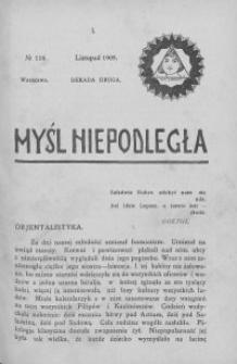 Myśl Niepodległa 1909 nr 116