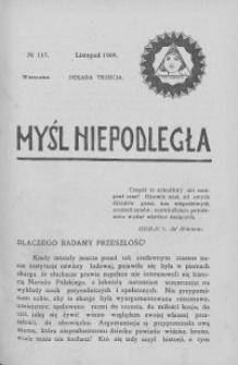 Myśl Niepodległa 1909 nr 117