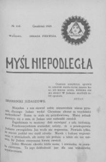 Myśl Niepodległa 1909 nr 118