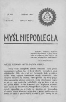 Myśl Niepodległa 1909 nr 119