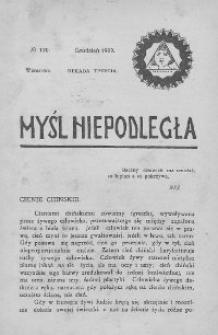 Myśl Niepodległa 1909 nr 120