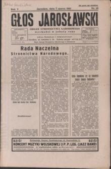 Głos Jarosławski : organ Stronnictwa Narodowego. 1931, R. 5, nr 10-13 (marzec)
