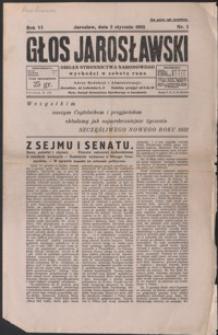 Głos Jarosławski : organ Stronnictwa Narodowego. 1932, R. 6, nr 1-5 (styczeń)