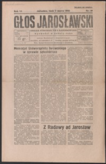 Głos Jarosławski : organ Stronnictwa Narodowego. 1932, R. 6, nr 10-13 (marzec)