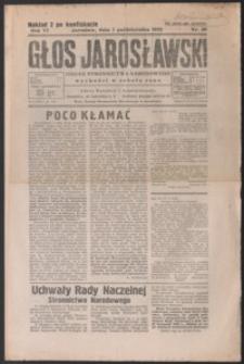 Głos Jarosławski : organ Stronnictwa Narodowego. 1932, R. 6, nr 40 (październik)