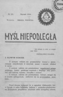Myśl Niepodległa 1910 nr 121
