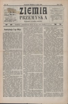 Ziemia Przemyska. 1922, R. 8, nr 19-22 (maj)