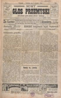 Nowy Głos Przemyski : pismo poświęcone sprawom społecznym, politycznym i ekonomicznym. 1909, R. 8, nr 1-5 (styczeń)