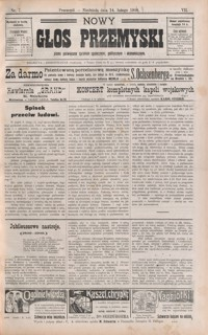 Nowy Głos Przemyski : pismo poświęcone sprawom społecznym, politycznym i ekonomicznym. 1909, R. 8, nr 7-8 (luty)