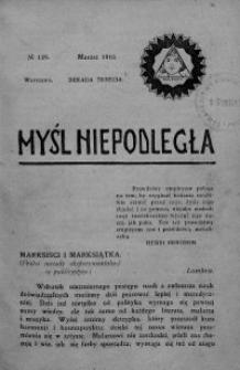 Myśl Niepodległa 1910 nr 129
