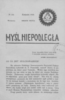 Myśl Niepodległa 1910 nr 131