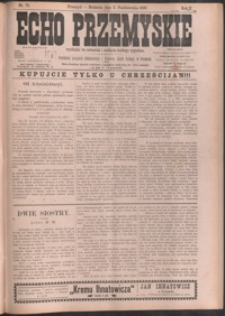 Echo Przemyskie : organ Stronnictwa Katolicko-Narodowego. 1897, R. 2, nr 79-87 (październik)