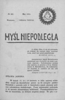 Myśl Niepodległa 1912 nr 207