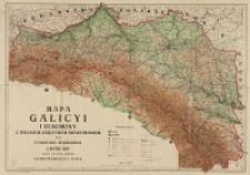 Mapa Galicyi i Bukowiny z Wielkiem Księstwem Krakowskiem / przez Stanisława Majerskiego