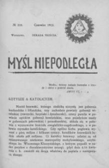Myśl Niepodległa 1912 nr 210