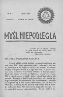 Myśl Niepodległa 1912 nr 211