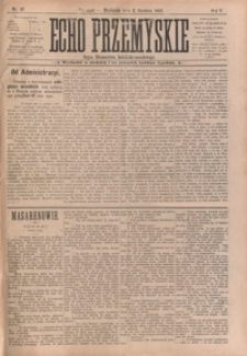 Echo Przemyskie : organ Stronnictwa Katolicko-Narodowego. 1900, R. 5, nr 97-104 (grudzień)