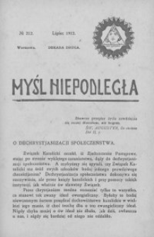 Myśl Niepodległa 1912 nr 212