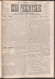 Echo Przemyskie : organ Stronnictwa Katolicko-Narodowego. 1901, R. 6, nr 70-78 (wrzesień)