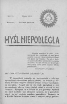 Myśl Niepodległa 1912 nr 213