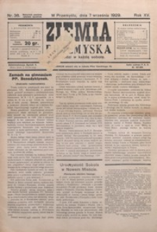 Ziemia Przemyska. 1929, R. 15, nr 36-39 (wrzesień)