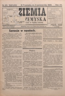 Ziemia Przemyska. 1929, R. 15, nr 40-43 (październik)