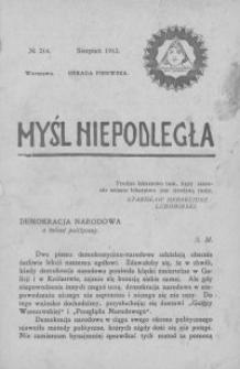 Myśl Niepodległa 1912 nr 214