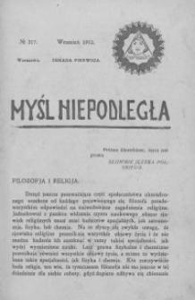 Myśl Niepodległa 1912 nr 217