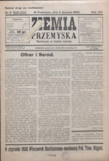 Ziemia Przemyska. 1930, R. 16, nr 2-7 (styczeń)