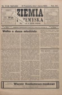 Ziemia Przemyska. 1930, R. 16, nr 15-22 (marzec)