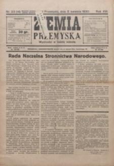 Ziemia Przemyska. 1930, R. 16, nr 23-26 (kwiecień)