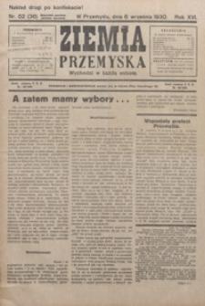 Ziemia Przemyska. 1930, R. 16, nr 52-56 (wrzesień)
