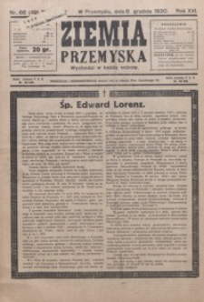 Ziemia Przemyska. 1930, R. 16, nr 66-69 (grudzień)