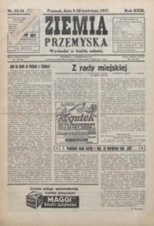 Ziemia Przemyska. 1937, R. 23, 15-18 (kwiecień)