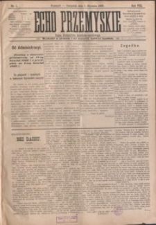 Echo Przemyskie : organ Stronnictwa Katolicko-Narodowego. 1903, R. 8, nr 1-6, 8-9 (styczeń)