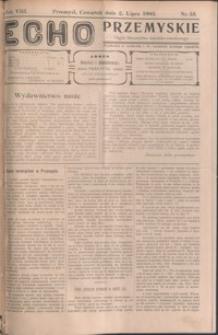Echo Przemyskie : organ Stronnictwa Katolicko-Narodowego. 1903, R. 8, nr 53-61 (lipiec)