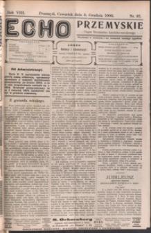 Echo Przemyskie : organ Stronnictwa Katolicko-Narodowego. 1903, R. 8, nr 97-103 (grudzień)