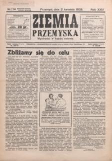 Ziemia Przemyska. 1938, R. 24, nr 14-18 (kwiecień)