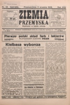 Ziemia Przemyska. 1938, R. 24, nr 34-37 (wrzesień)