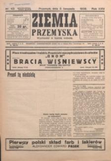 Ziemia Przemyska. 1938, R. 24, nr 43-46 (listopad)
