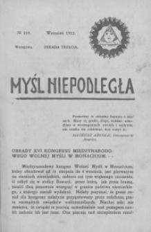 Myśl Niepodległa 1912 nr 219