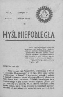 Myśl Niepodległa 1912 nr 224