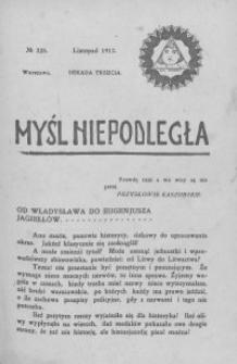 Myśl Niepodległa 1912 nr 225