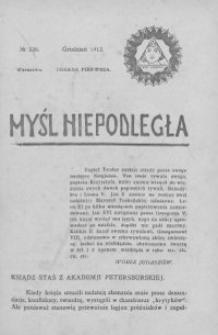 Myśl Niepodległa 1912 nr 226