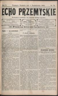 Echo Przemyskie : organ Stronnictwa Katolicko-Narodowego. 1905, R. 10, nr 79-87 (październik)