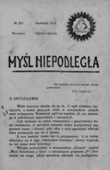 Myśl Niepodległa 1912 nr 227