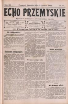 Echo Przemyskie : organ Stronnictwa Katolicko-Narodowego. 1906, R. 11, nr 97-104 (grudzień)