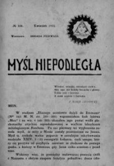 Myśl Niepodległa 1911 nr 166