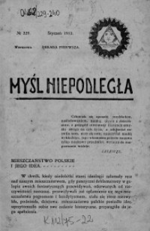 Myśl Niepodległa 1913 nr 229